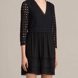 Black lace allsaints dress